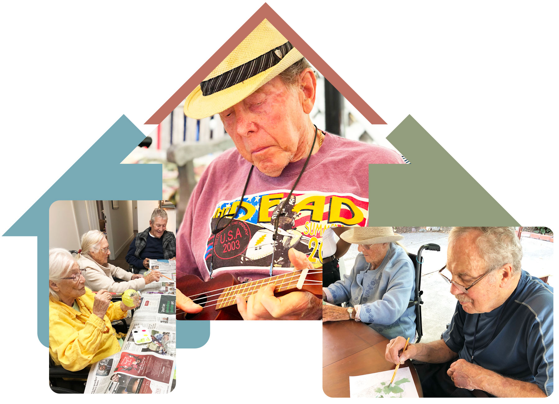collage image of residents